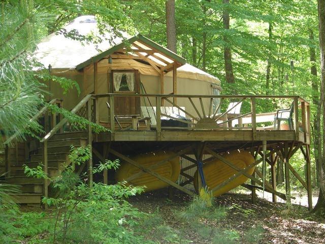 Big Yurt in Summer