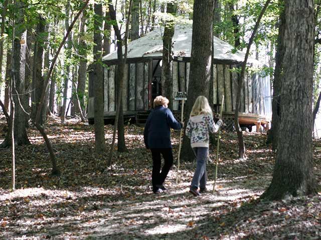 Yurt with walkers