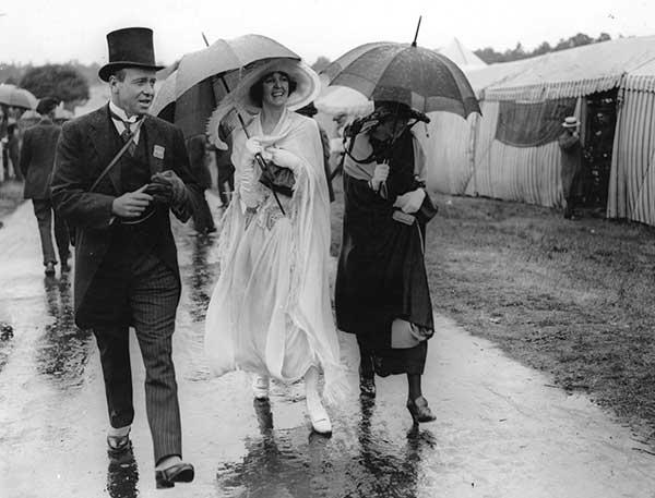 Celebs in the rain